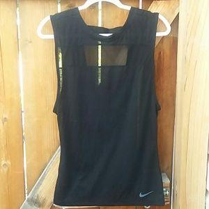Nike dri fit black lightweight muscle t tank xs